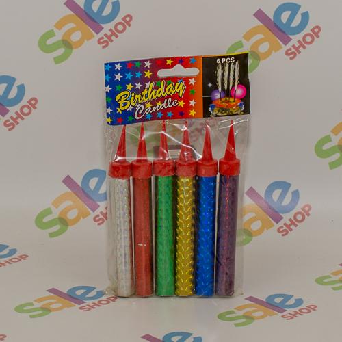 6 Birthday Sparkling Candles 10cm