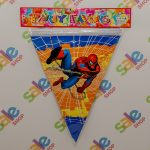 Spiderman Party Flags
