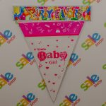 Baby Girl Party Flags