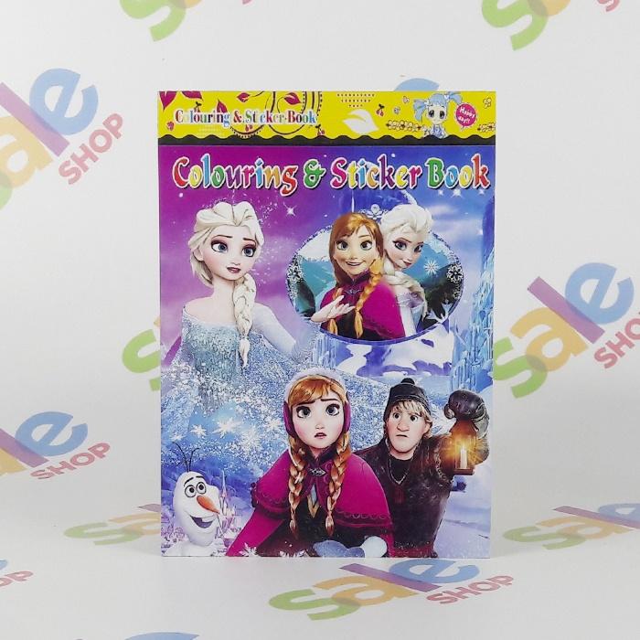 Frozen Coloring Sticker Books