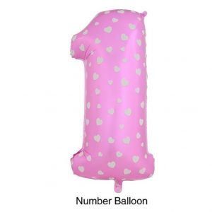 Birthday Pink Number 1 Balloons