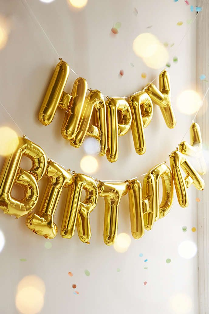 Happy Birthday Foil Letters Balloon