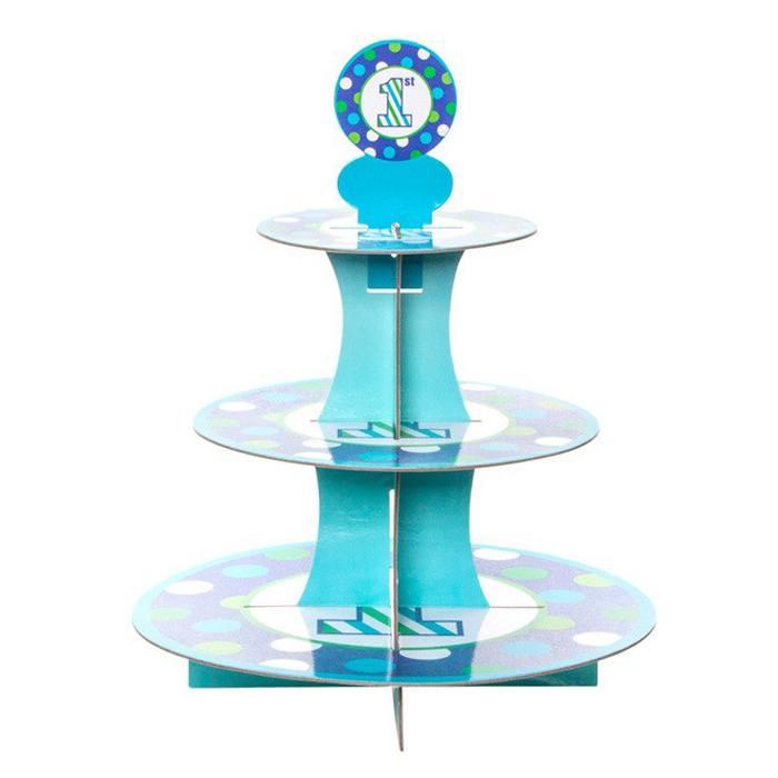 3 Tier Cupcake Stand – 1st Blue spot A