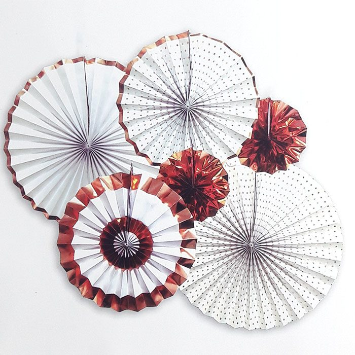 paper fan 6 set – white 2
