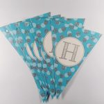Happy birthday letter party flags – blue
